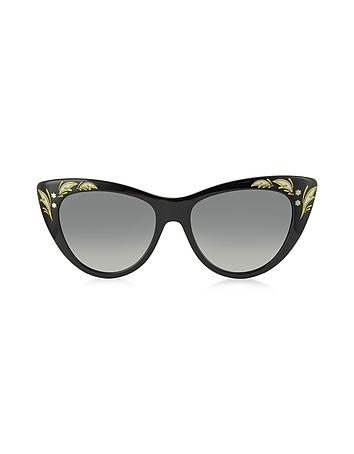 Gucci GG 3806/S 807DX - Grandes Lunettes de Soleil Femme en Acétate Noir