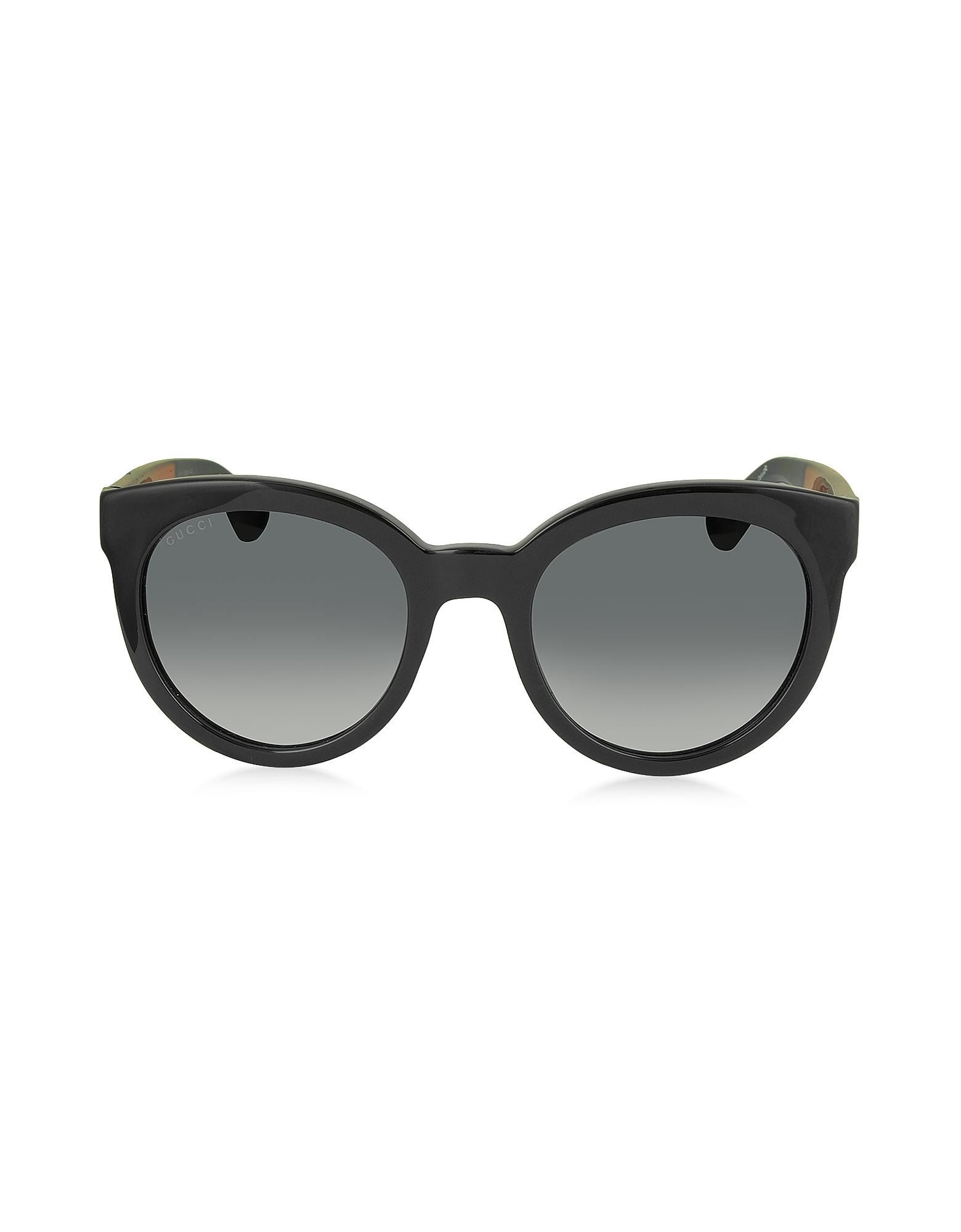 GG 3810/S VM89O - Черные Круглые Женские Солнечные Очки в Оправе из Ацетата