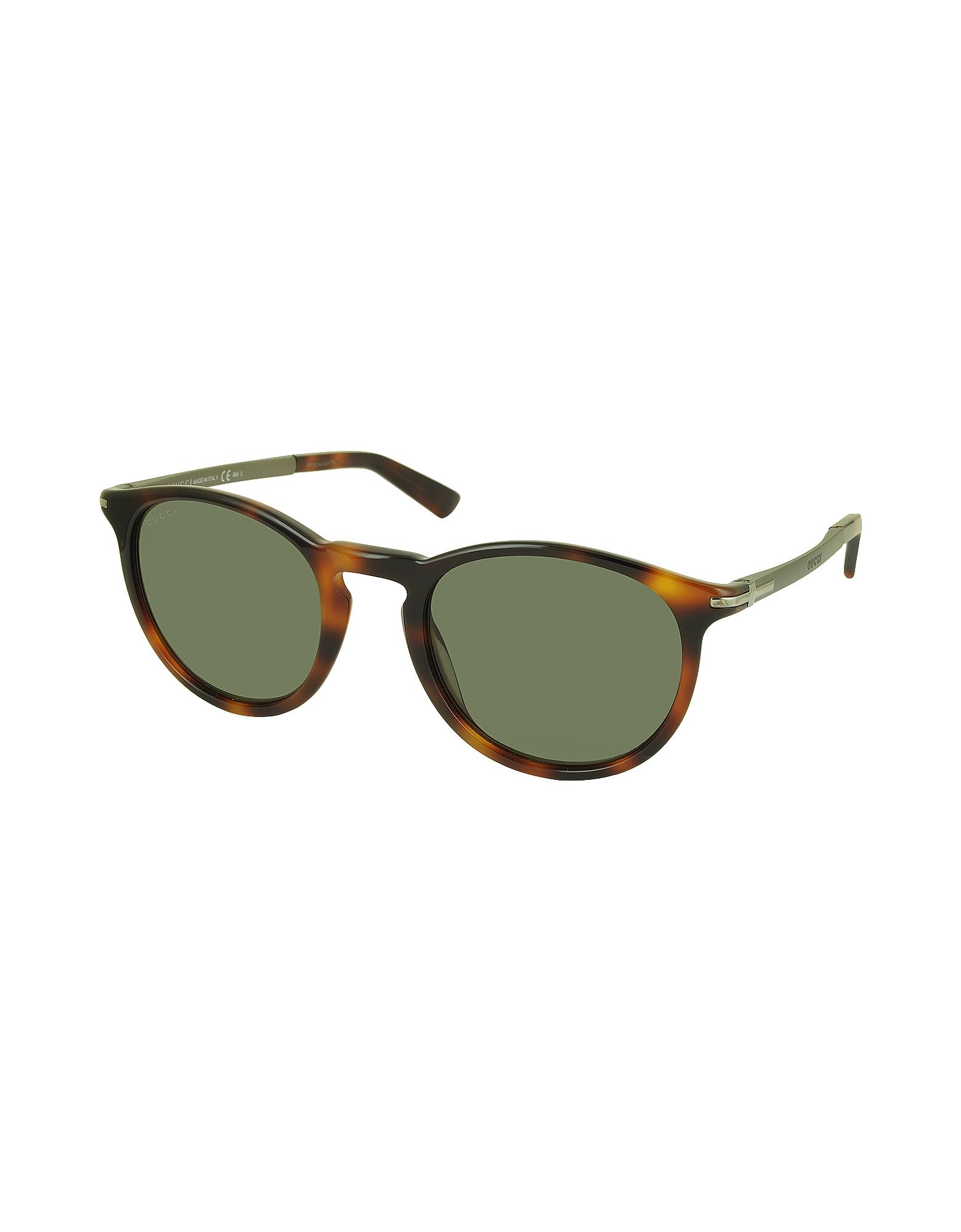 GG 1110/S 8E270 Havana Acetate Round Men's Sunglasses от Forzieri.com INT