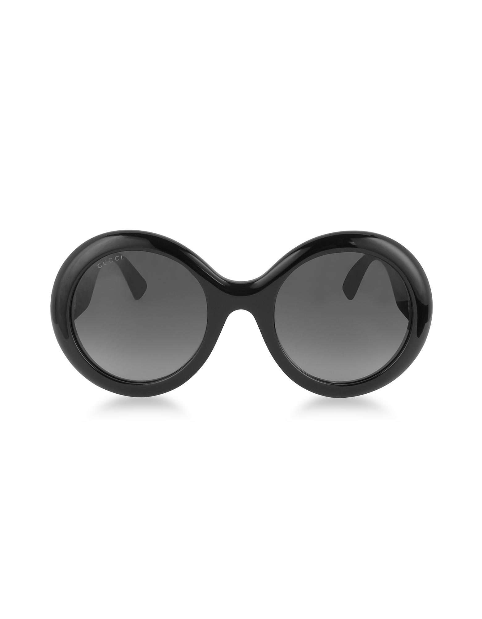 GG0101S - Круглый Женские Солнечные Очки из Ацетата с Блестящими Дужками
