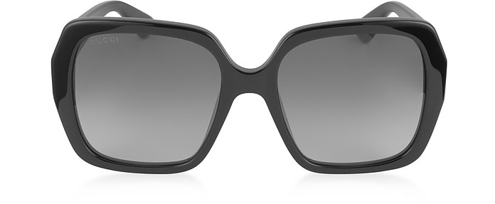 GG0053S 001 Black Acetate Square Women's Sunglasses - Gucci