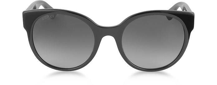 GG0035S 001 Black Optyl Round Women's Sunglasses - Gucci
