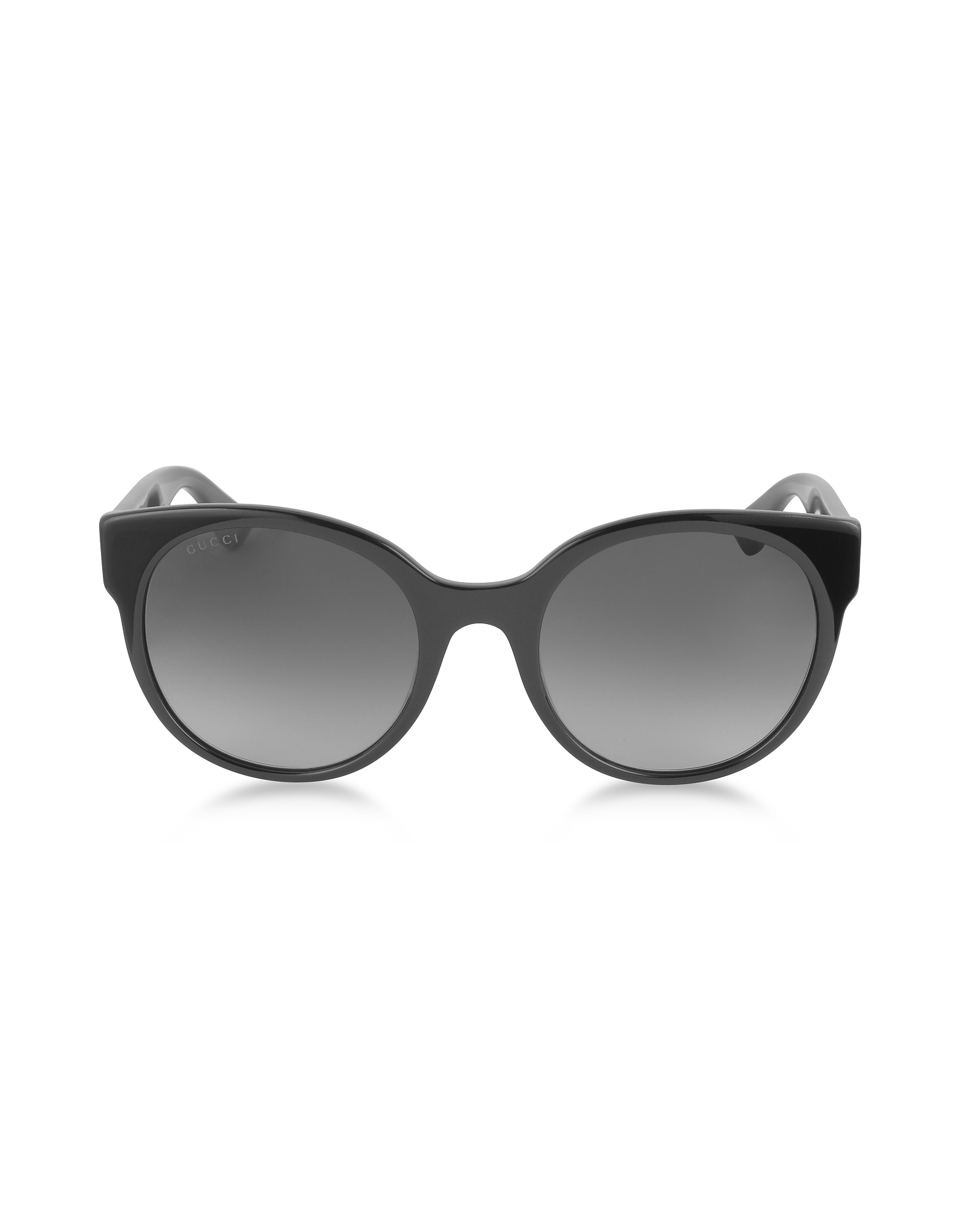 Gucci Sunglasses, GG0035S 001 Black Optyl Round Women's Sunglasses