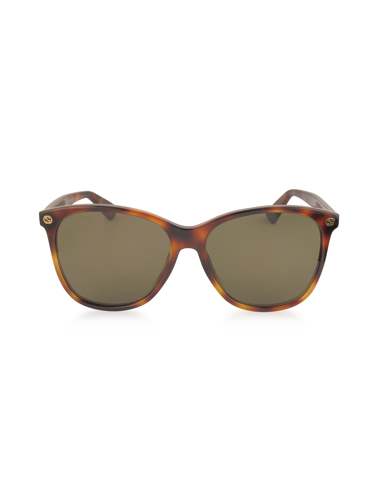 Gucci Designer Sunglasses, GG0024S Acetate Round Oversized Women's Sunglasses