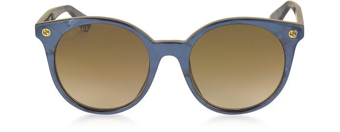 GG0091S Acetate Round Women's Sunglasses - Gucci