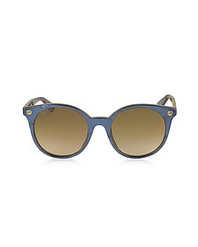 GG0091S Acetate Round Women's Sunglasses - Gucci