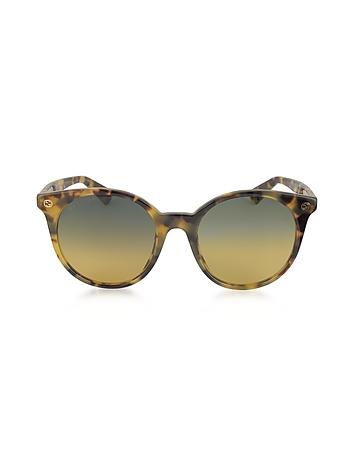 GG0091S Acetate Round Women's Sunglasses