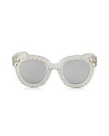 GG0116S Acetate Cat Eye Women's Sunglasses w/Stars - Gucci