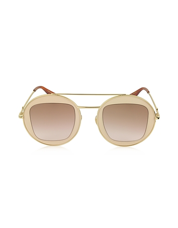 7eaa30045 GG0105S Metal Round Aviator Women's Sunglasses from Gucci at ...