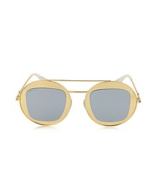 GG0105S Metal Round Aviator Women's Sunglasses - Gucci