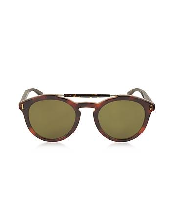 Gucci - GG0124S Acetate Round Aviator Men's Sunglasses
