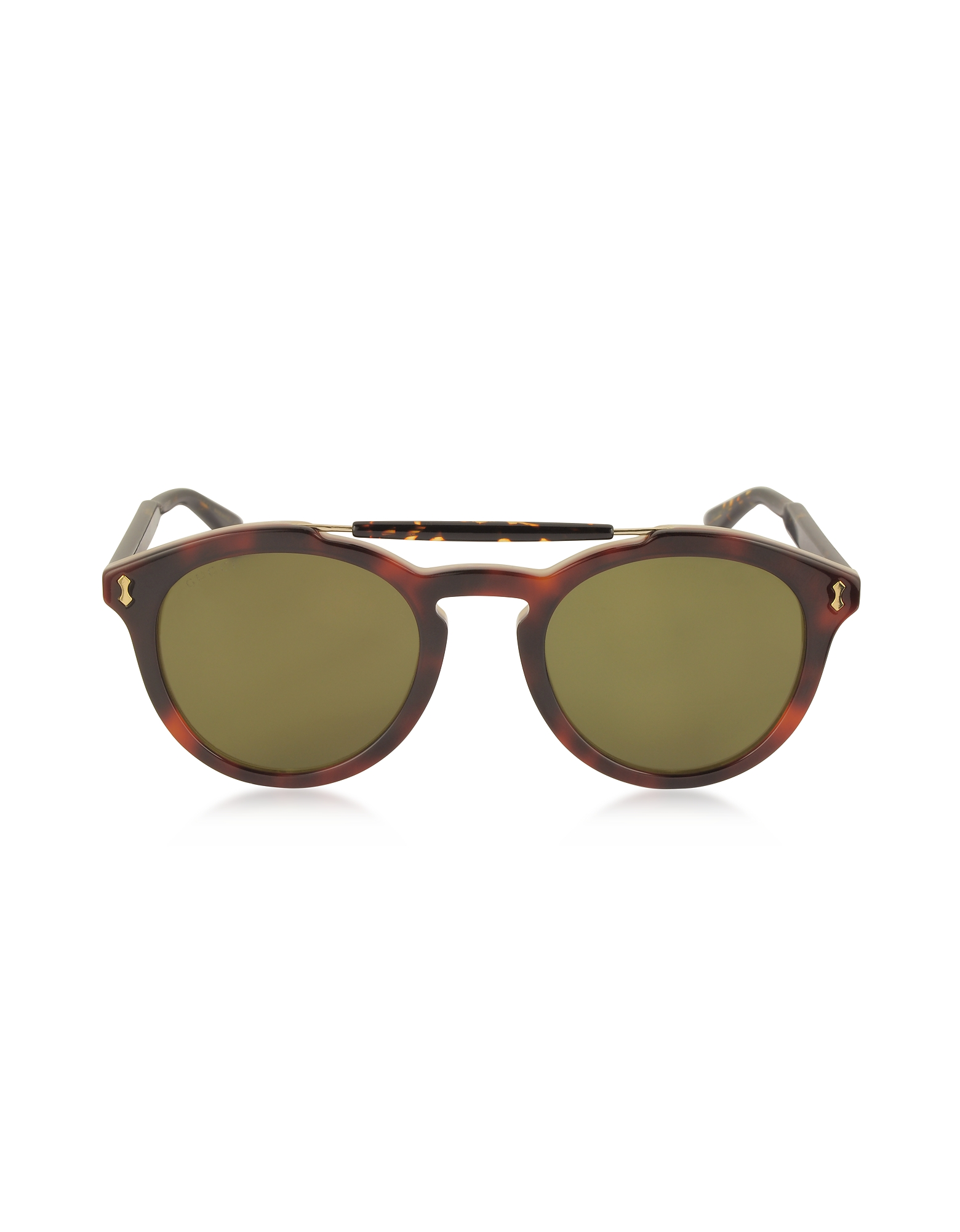 Gucci Designer Sunglasses, GG0124S Acetate Round Aviator Men's Sunglasses