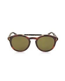GG0124S Acetate Round Aviator Men's Sunglasses - Gucci