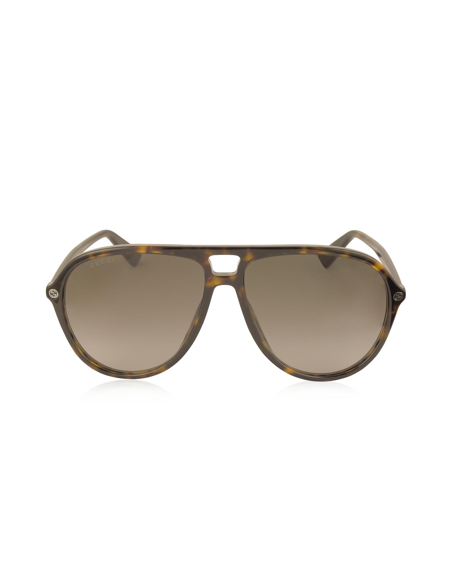 Gucci Sunglasses, GG0119S Acetate Aviator Men's Sunglasses