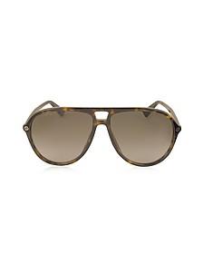 GG0119S Acetate Aviator Men's Sunglasses - Gucci