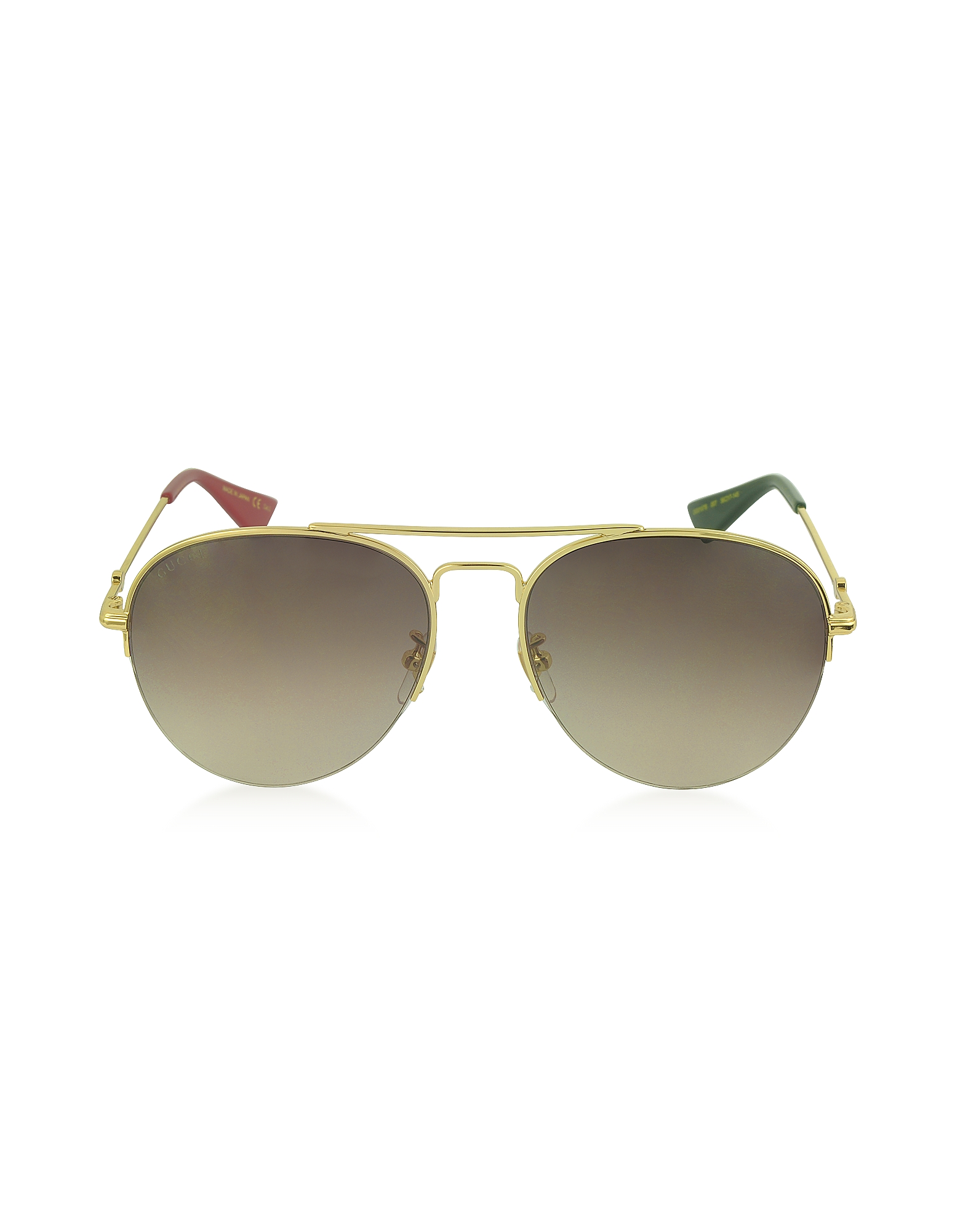Gucci Sunglasses, GG0107S Metal Aviator Men's Sunglasses