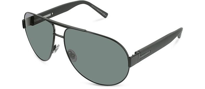 Signature Large Aviator Sunglasses - Gucci