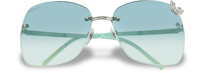 Flora - Butterfly Rimless Sunglasses  - Gucci