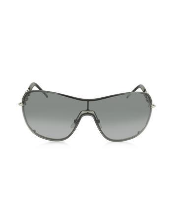 Lux-ID 210546 GG 4231/S QNEVK Black Shield Women's Sunglasses