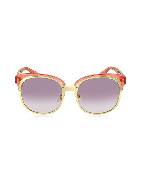 Foto Gucci GG 4241/S EY9R Occhiali da Sole Oversize con Doppia Montatura