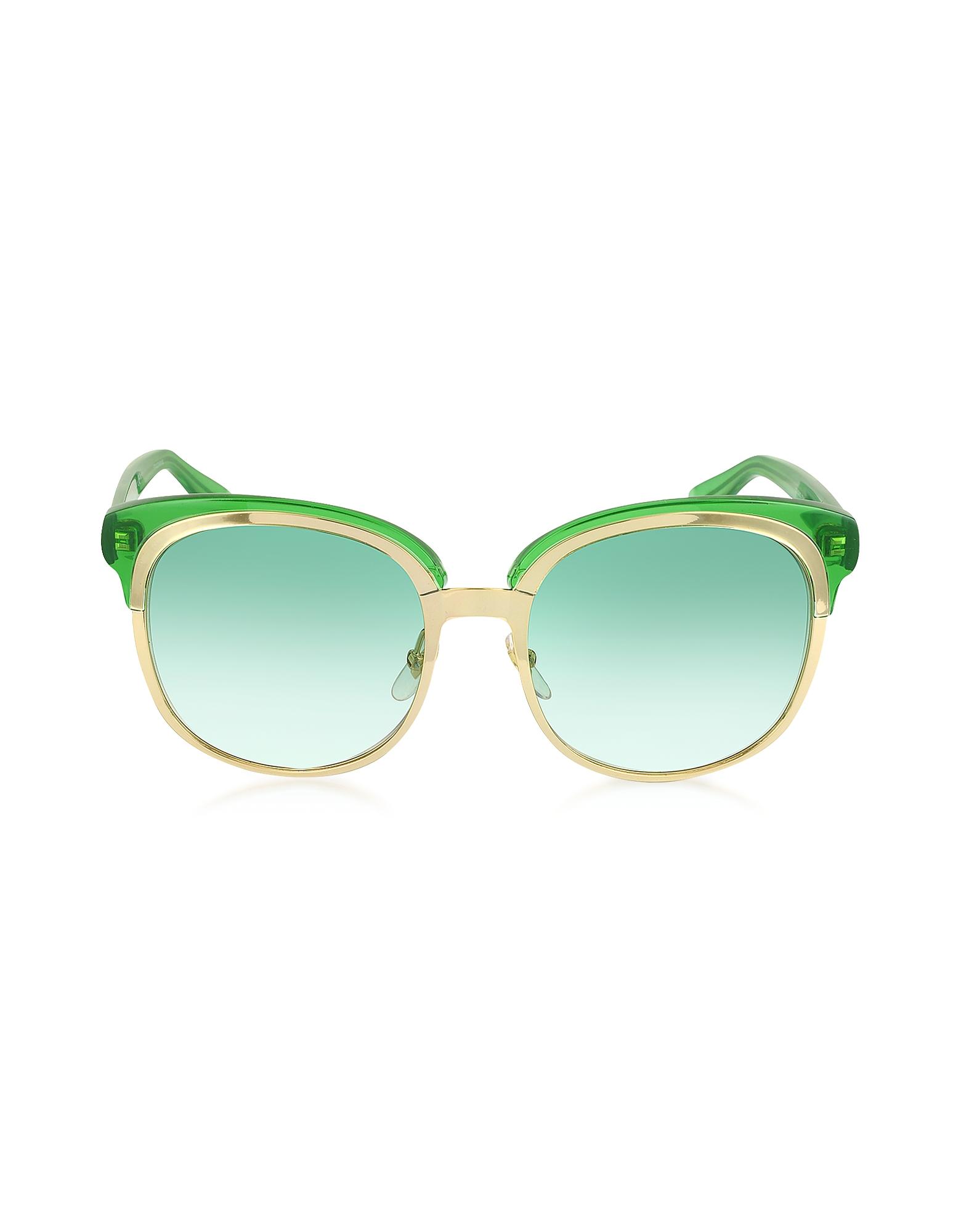 GG 4241/S EZA7L - Зеленые и Золотистые Женские Солнечные Очки