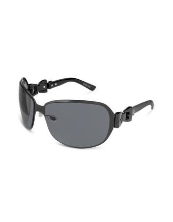 Gucci Signature Bow Oversize Round Metal Sunglasses