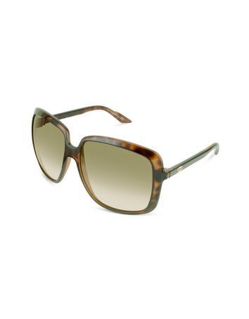 Gucci Web Temple Square Sunglasses