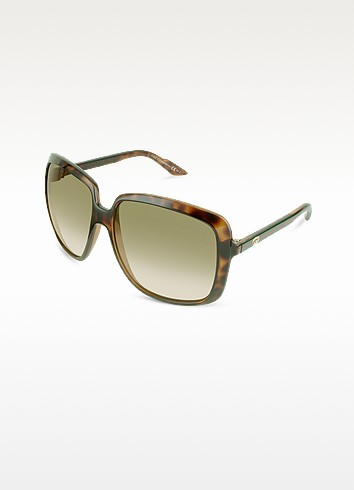Web Temple Square Sunglasses - Gucci