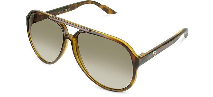 Logo Aviator Sunglasses  - Gucci