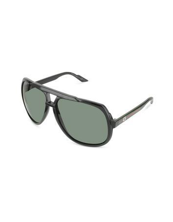 Gucci Logo Large Aviator Sunglasses