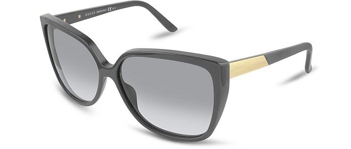 Women's Gucci Logo Square Frame Sunglasses - Gucci