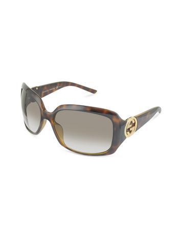 Gucci Women's GG Logo Square Frame Sunglasses