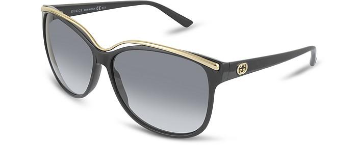 Women's GG Logo Metal Bridge Sunglasses - Gucci