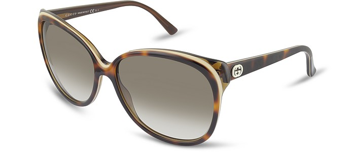 Women's Round GG Logo Sunglasses - Gucci