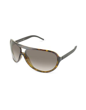 Gucci Men's Logo Aviator Sunglasses