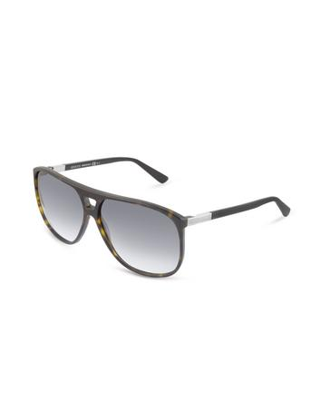 Men's Logo Square Frame Sunglasses