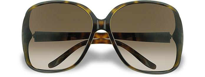 Heart Logo Plastic Frame Sunglasses - Gucci