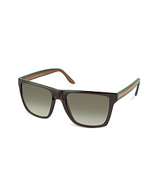 Large Rectangle Frame Sunglasses  - Gucci