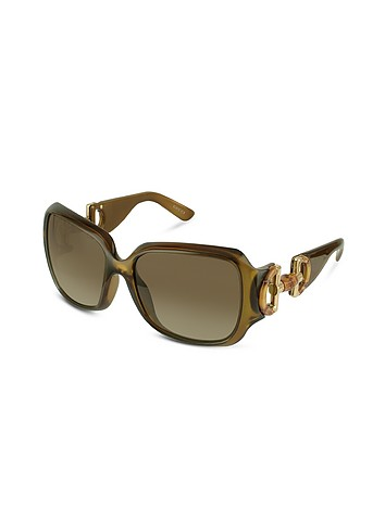 Gucci Bamboo Horsebit Temple Sunglasses :  stylish women designer accessory womens