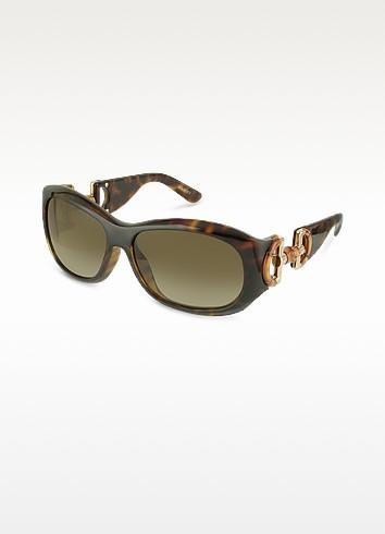 Bamboo Horsebit Temple Round Sunglasses - Gucci