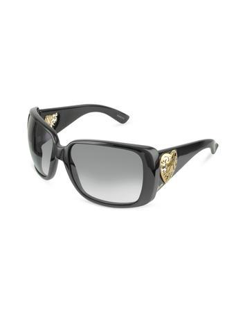Gucci Heart-shaped Crest Sunglasses