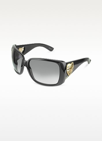 Heart-shaped Crest Sunglasses - Gucci