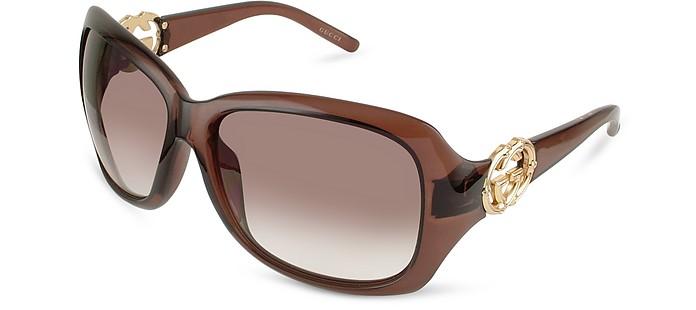 GG Logo Round Sunglasses - Gucci