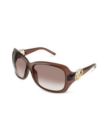 Gucci GG Logo Round Sunglasses