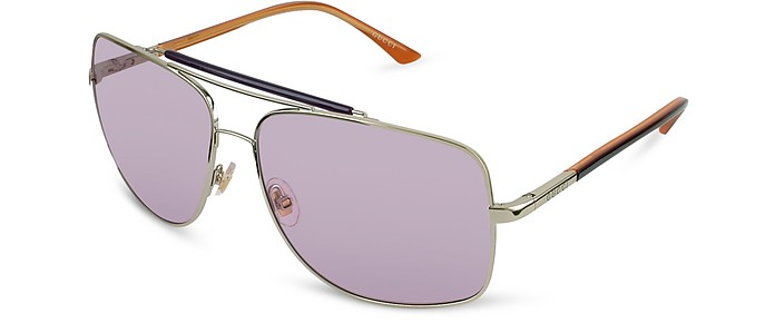 Signature Temple Metal Teacup Sunglasses - Gucci