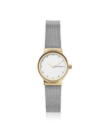 Freja Two Tone Steel Mesh Women's Watch