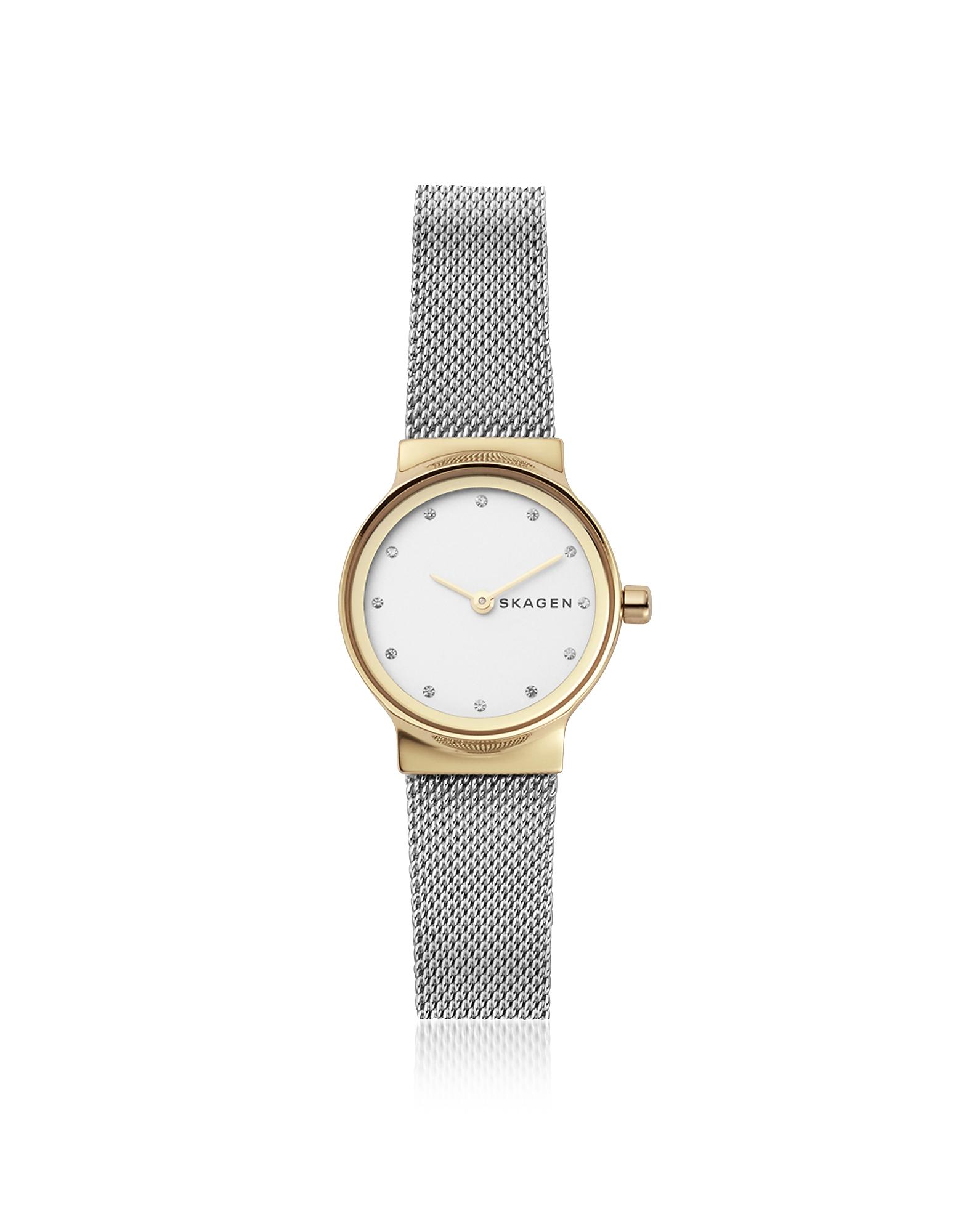 Skagen  Women's Watches Freja Two Tone Steel Mesh Women's Watch