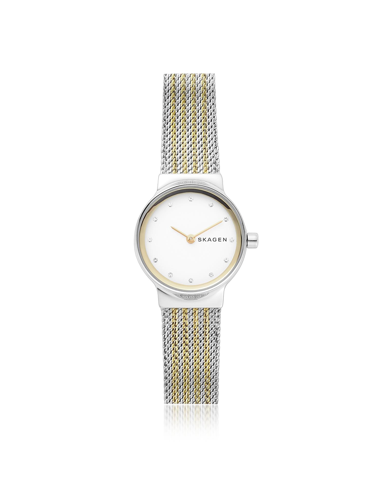 Freja Two-Tone Steel-Mesh Women's Watch
