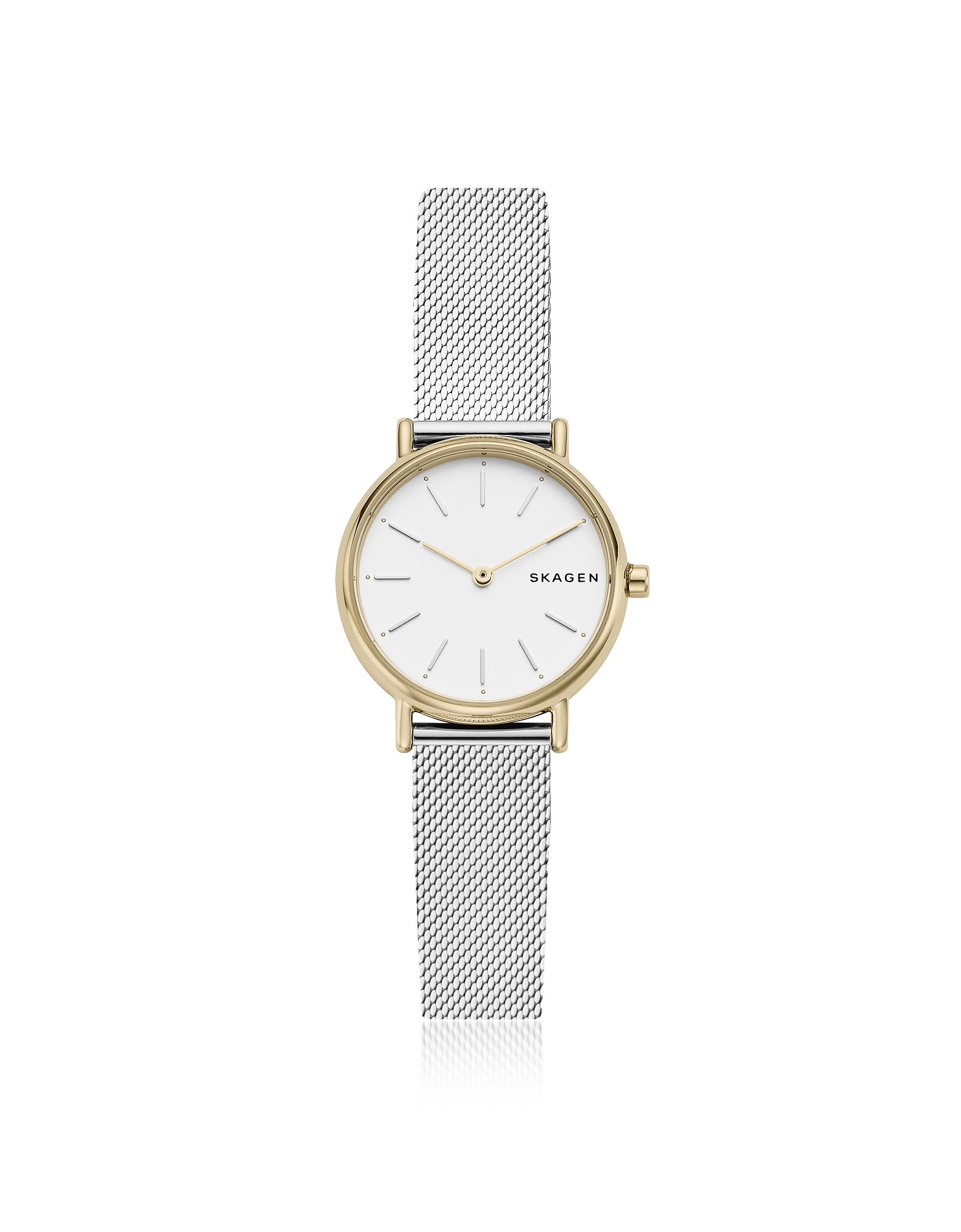 Signatur Slim Two Tone Steel Mesh Women's Watch