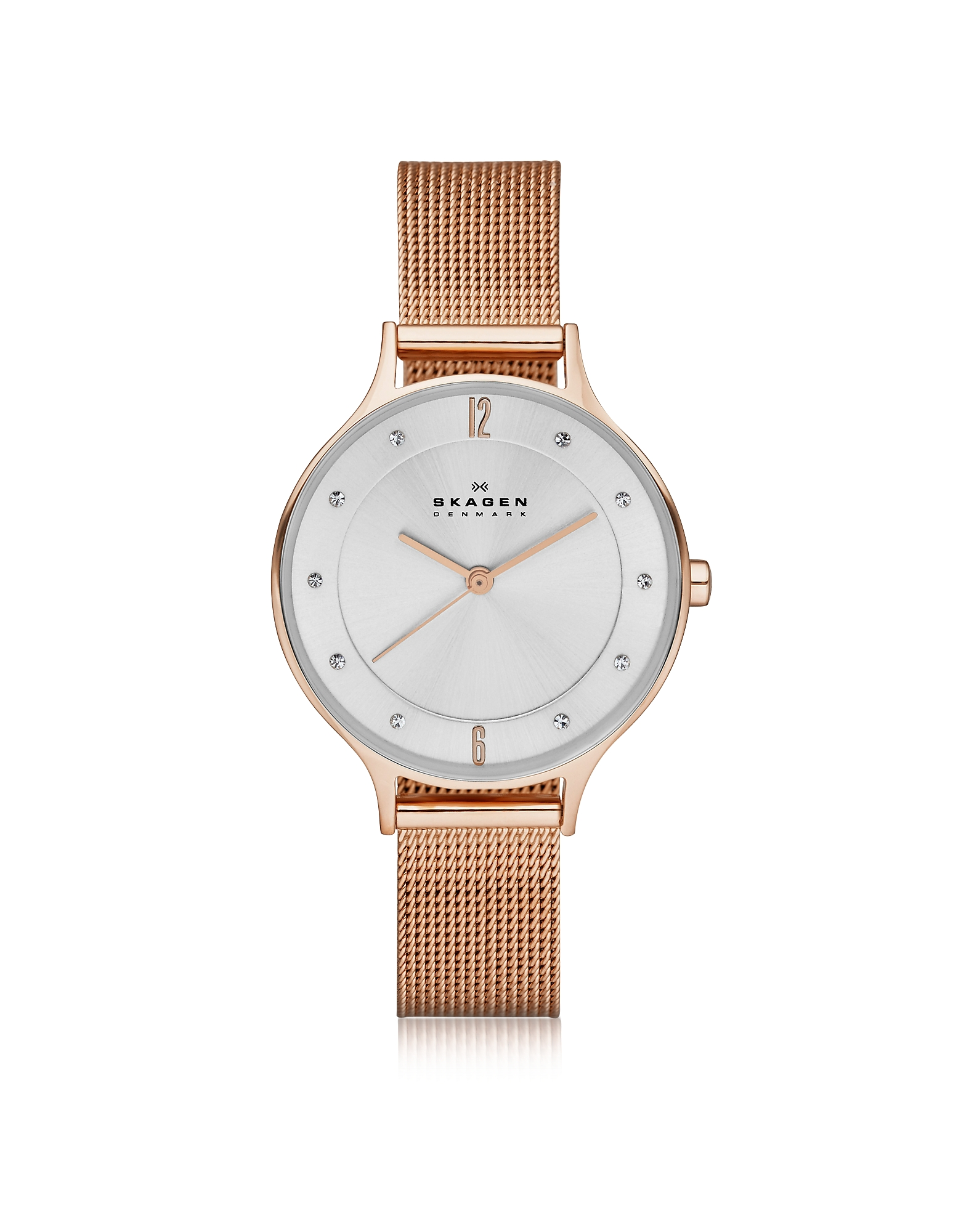 Skagen  Women's Watches Anita Rose Goldtone Stainless Steel Women's Watch w/Mesh Bracelet Band